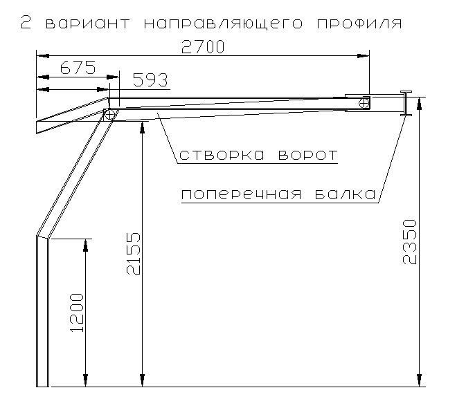 Подъемные складные ворота для гаража своими руками чертежи
