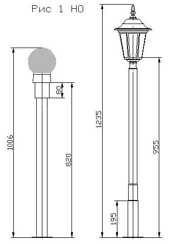 Уличные светильники для дачи чертежи